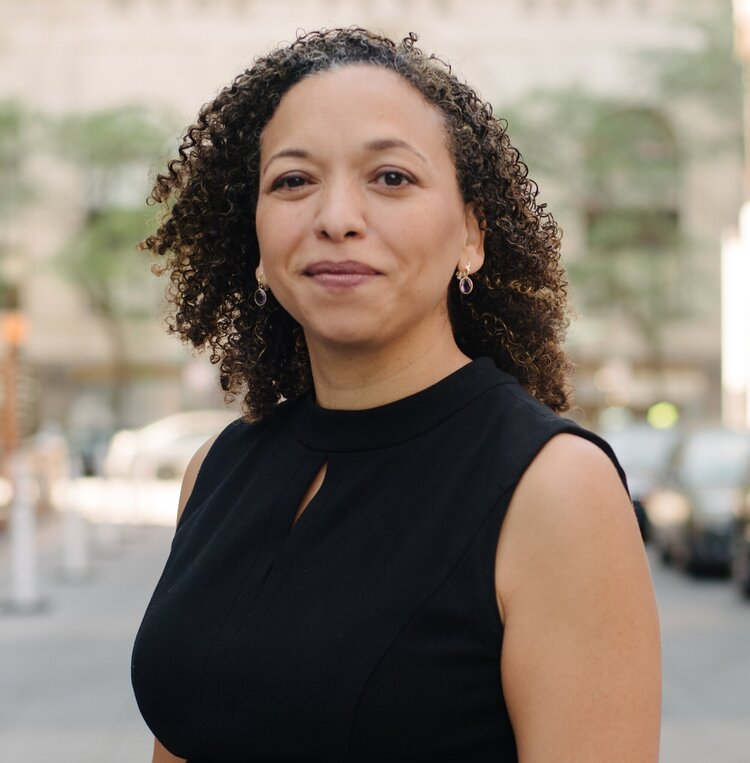 Monica Santana Rosen, facing the camera.